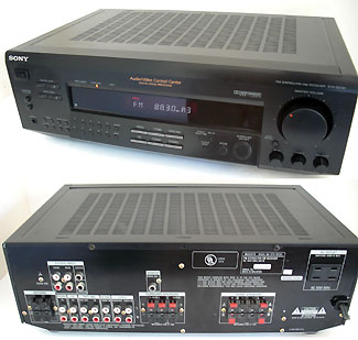 90's Sony Surround Sound Stereo Receiver with Phono Input