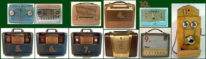 VIntage Battery Operated Portable Tube Radios