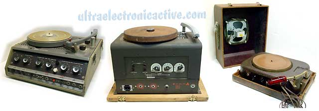 Proefessional tube amplified record players and Public Address systems