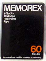 8 Track blank Tape Recording Cartridge - Memorex