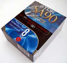 New Old Stock TDK SA-90 8 Pack Cassette Tapes