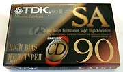 New Old Stock TDK SA-90 Cassette Tape