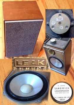 Leak Sanwhich Loudspeakers - Vintage Studio Monitors