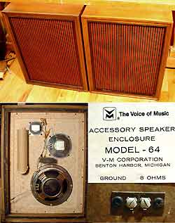 Vintage Voice of Music Hi-Fi Speakers