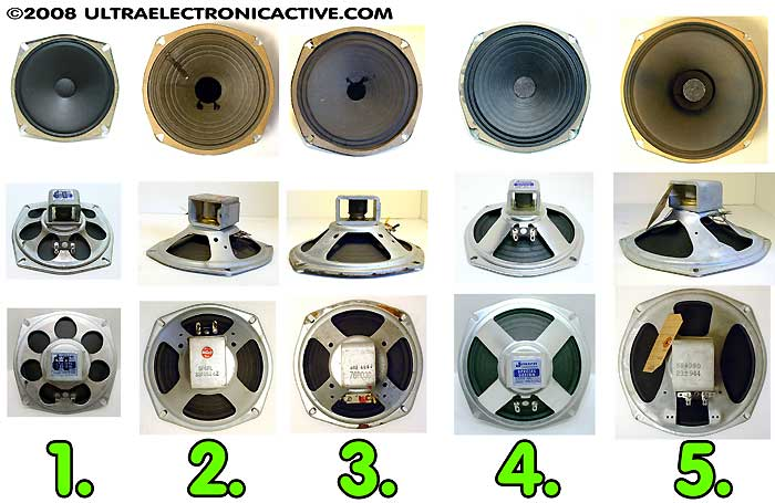 "Vintage Alnico Speakers 6"" to 10"""