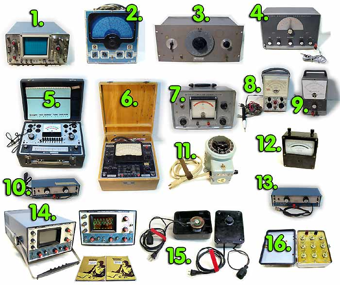 Test Equipment for work on vaccum tube equipment
